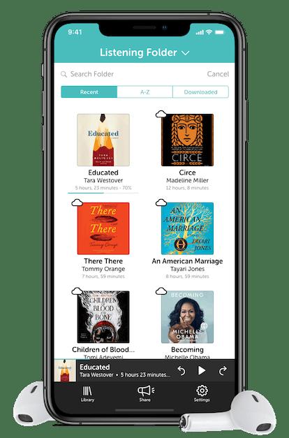 Screenshot of the Libro.Fm app.