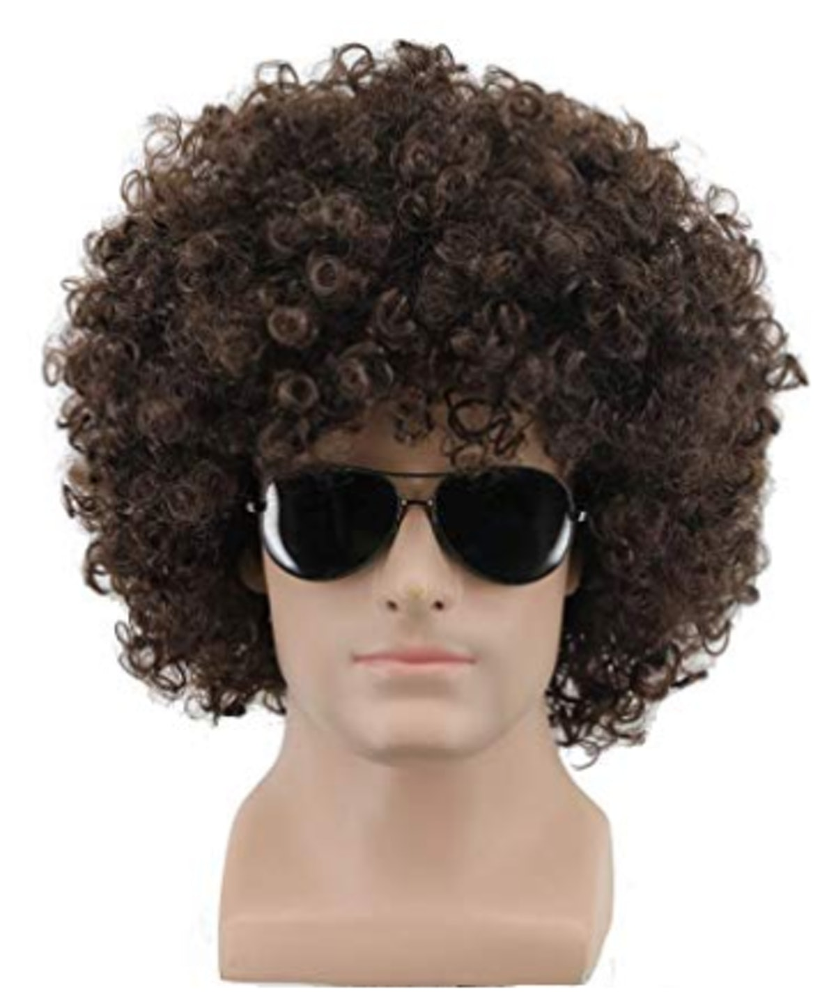 Yuehong Short Fluffy Disco Afro Wigs Synthetic Anime Cosplay Fancy Funny Wigs for Unisex Men Women (...