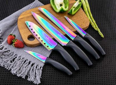 SiliSlick Kitchen Knife Set (5-Set)