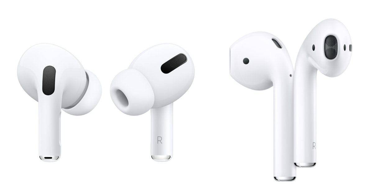 Apple's AirPods Pro versus AirPods 2 highlight a new in-ear design.