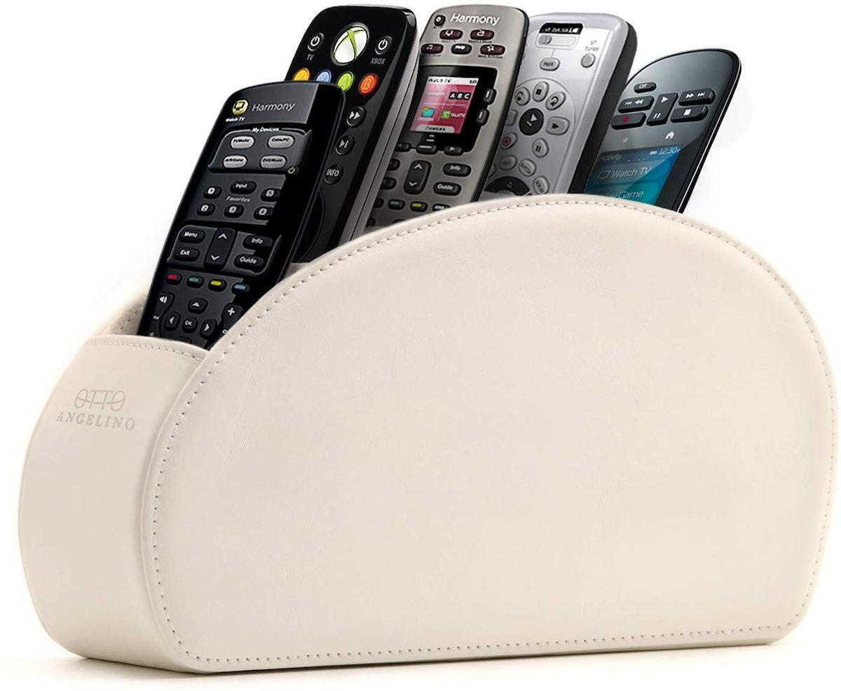 Leather Remote Control Organizer