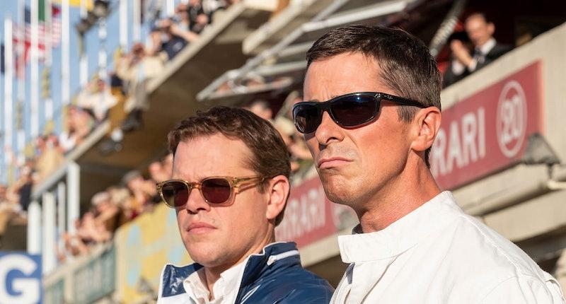 Matt Damon as Carroll Shelby and Christian Bale as Ken Miles in Ford v Ferrari