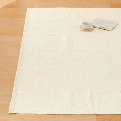 Cotton Handwoven Rug Ecru