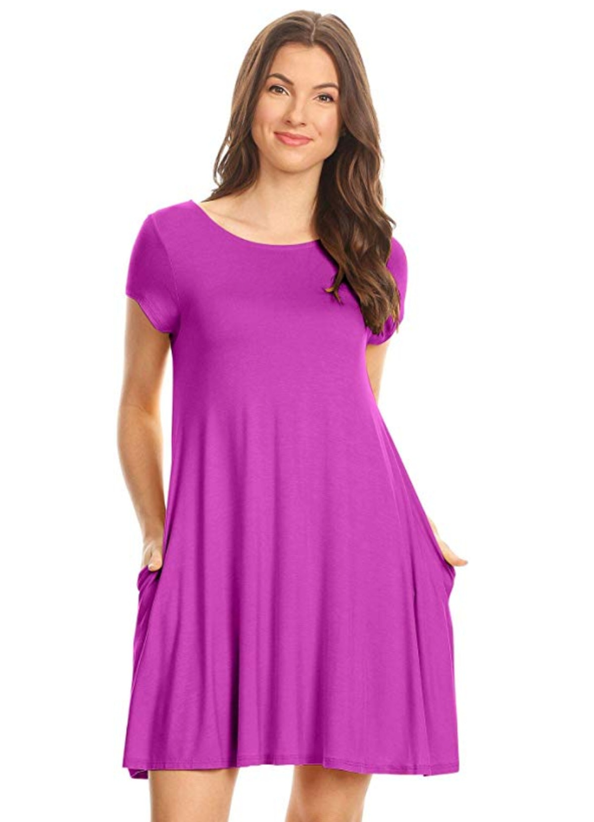 Simlu Casual T Shirt Dress for Women