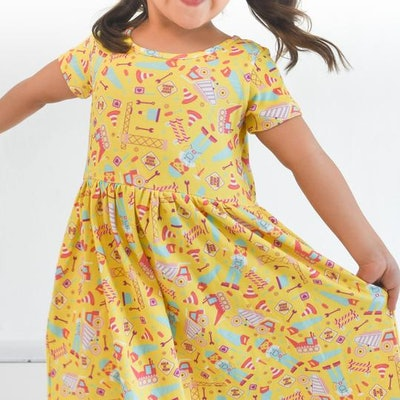 Annie the Brave Construction Play Dress