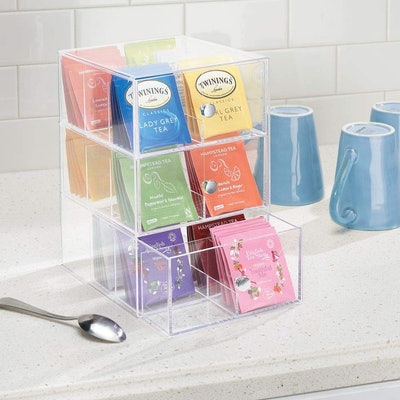 mDesign Countertop Tea Organizer