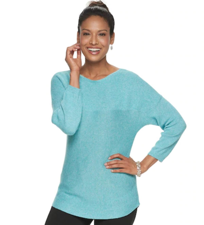 Croft & Barrow Dolman Boatneck Sweater