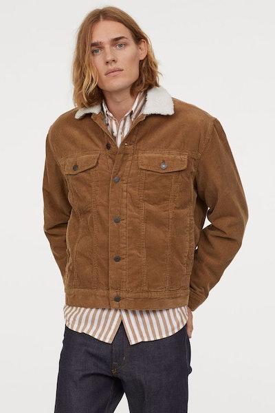 Pile-lined Corduroy Jacket