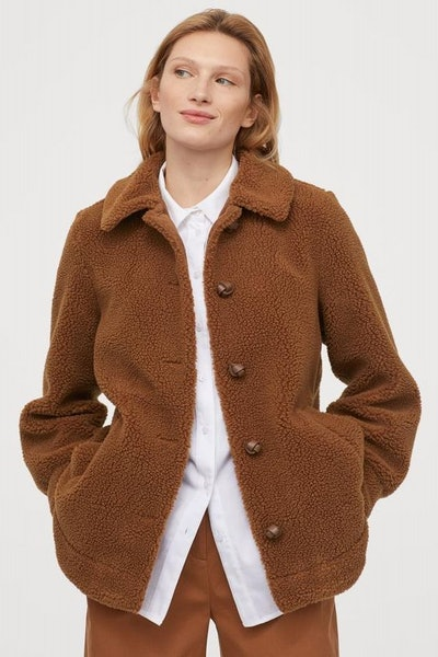 Pile Jacket with Collar