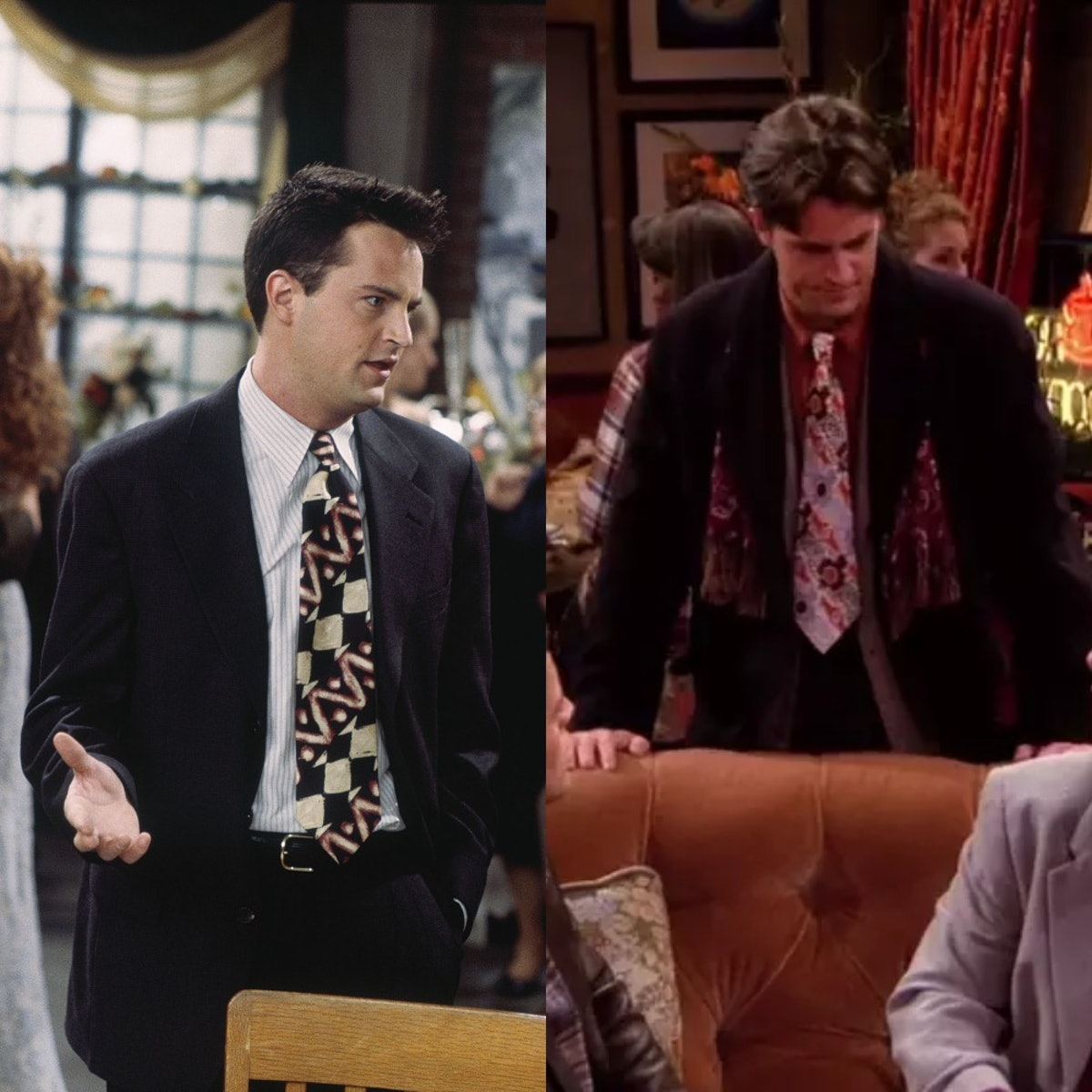 Chandler Bing's ties and chunky vests are another Friends Halloween costume
