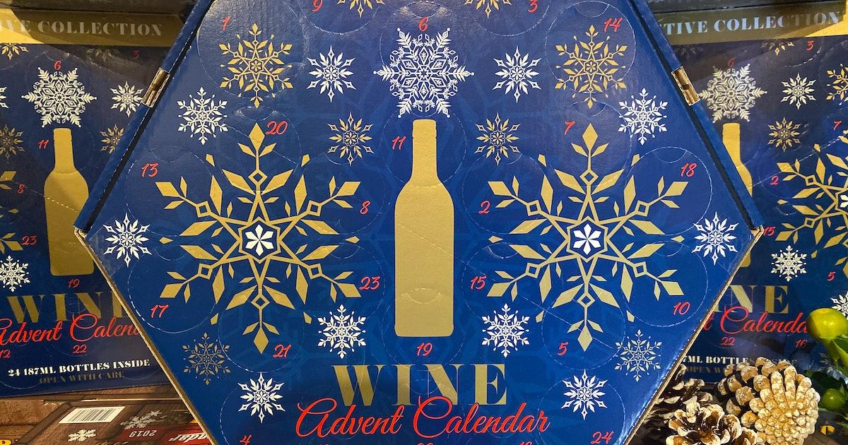 Aldi's Wine Advent Calendar For 2019 Includes 24 Small Bottles