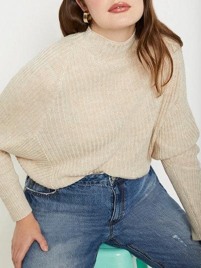 Dolman Sleeve Ribbed Sweater