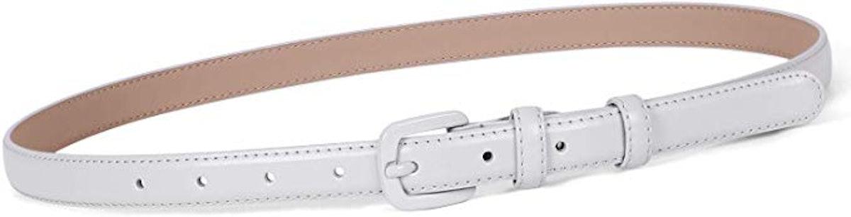 Women Skinny Leather Belt
