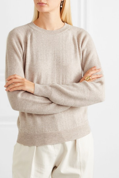 Levanzo Ribbed Mélange Cashmere Sweater