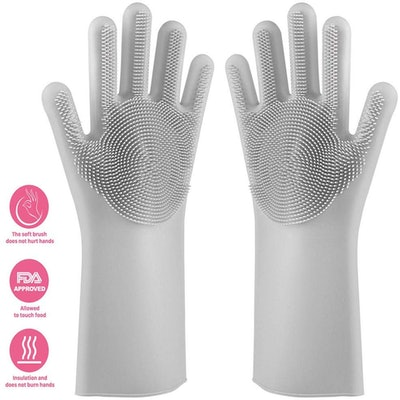 Nirolle Silicone Dishwashing Gloves (2 Gloves)