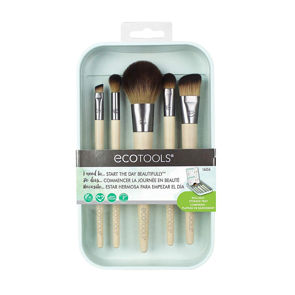 EcoTools Start The Day Beautifully Makeup Brush Kit (5-Pack)