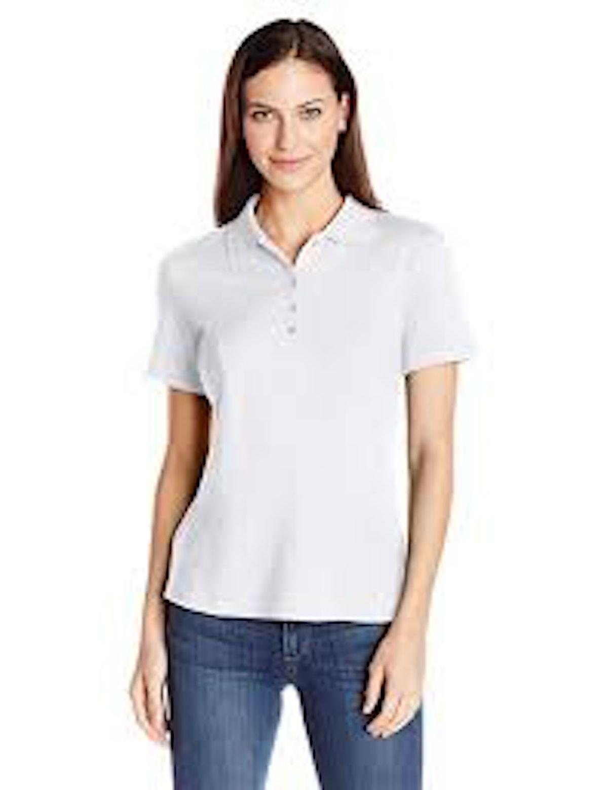 Amazon Essentials Women's Short-Sleeve Performance Polo
