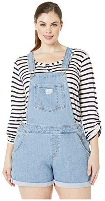 Levi's Women's Plus-Size Shortalls