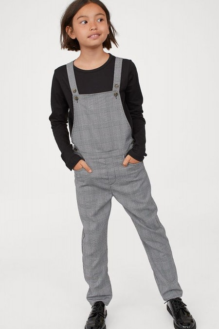 Checked Bib Overalls