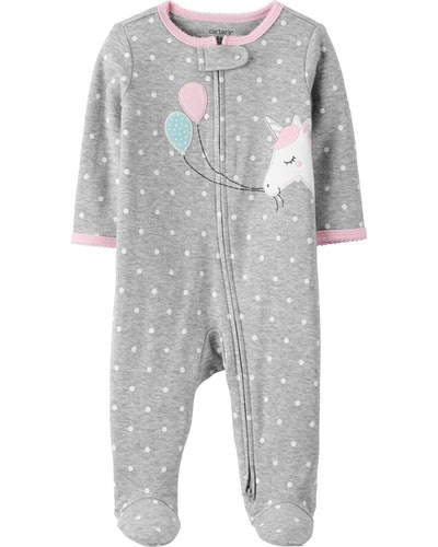 Unicorn 2-Way Zip Cotton Sleep & Play