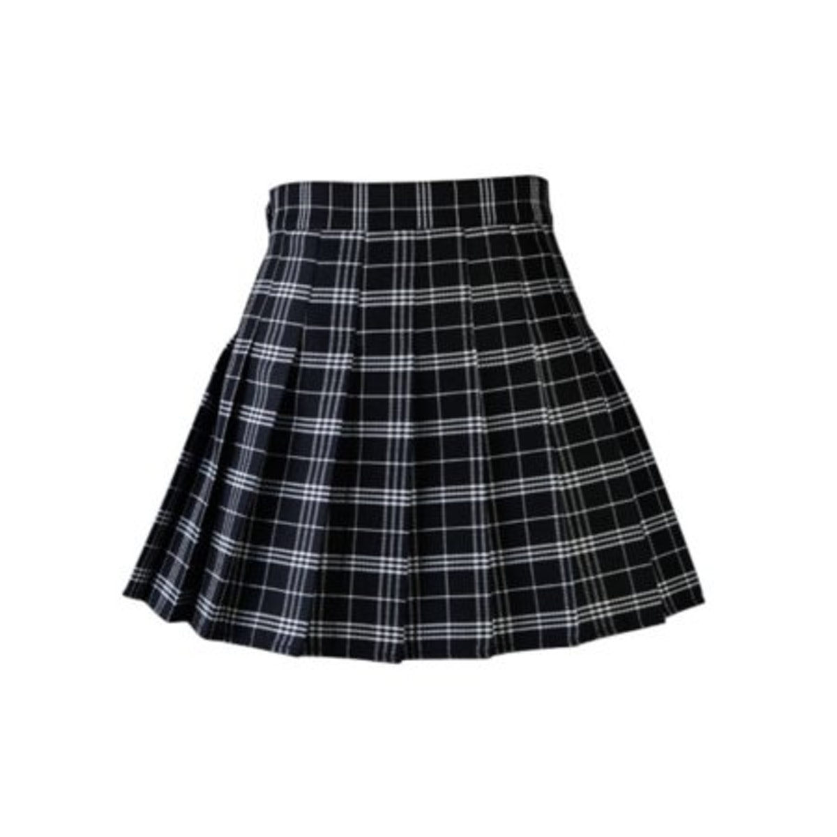 Casual Plaid Skirt High Waist Pleated Skirt A-line School Skirt Uniform With Inner Shorts