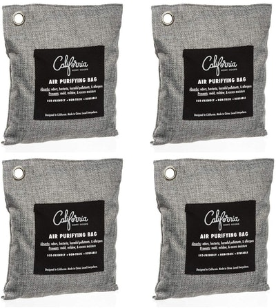 California Home Goods Charcoal Air Purifying Bags (4-Pack)