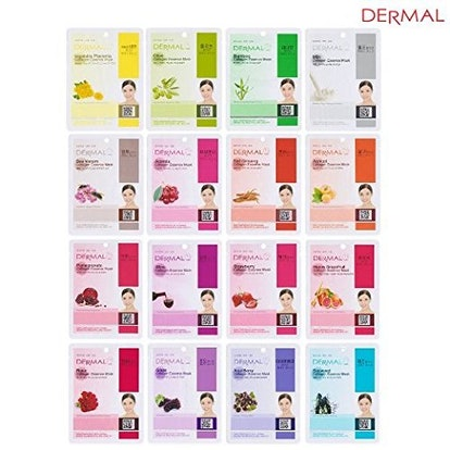 A+B Dermal Korea Collagen Essence Full Facial Mask Sheet (32-color set)