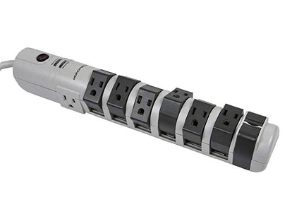 Monoprice 8 Outlet Rotating Surge Strip -Grey