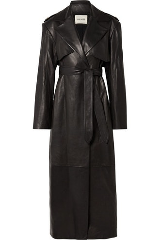 Blythe Leather Trench Coat