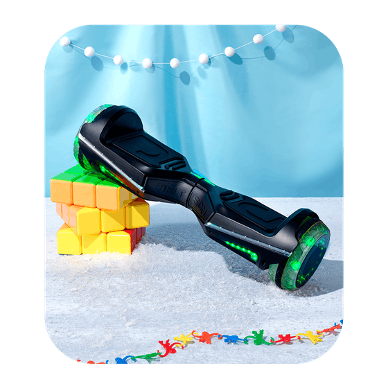 Jetson Rave Hoverboard with Cosmic Light-Up Wheels