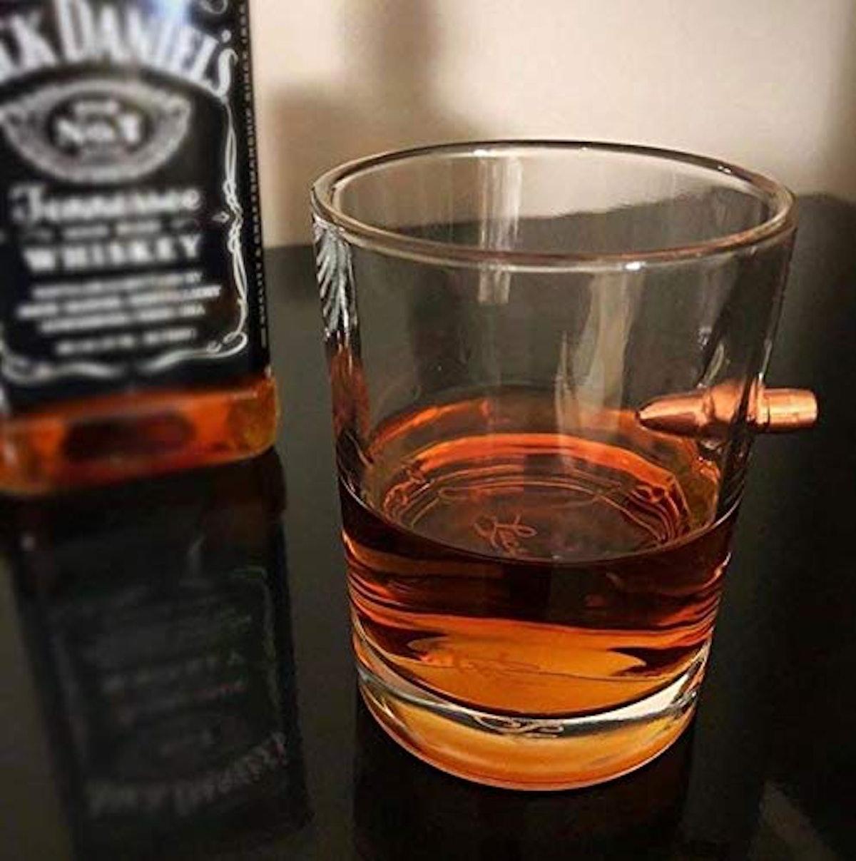 Lucky Shot Bullet Whiskey Glass