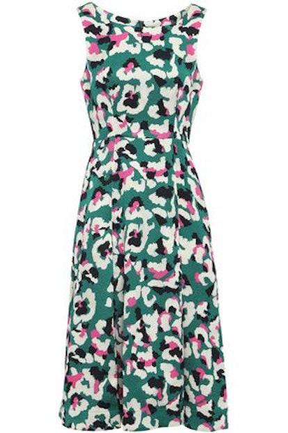 Talon Pleated Jacquard Dress