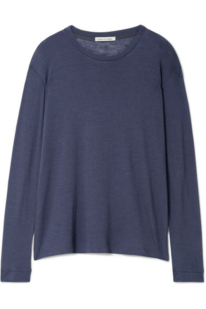 Marlon Slub Cashmere And Silk-Blend Top