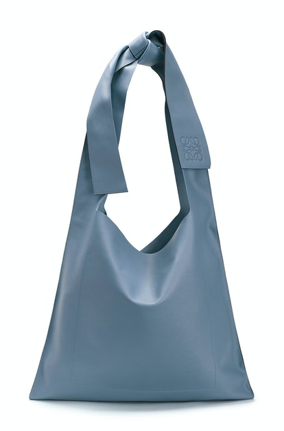 Steel Blue Bow Bag