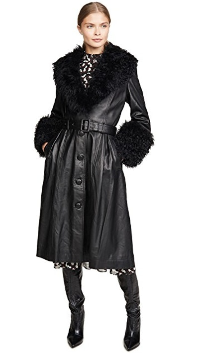 Foxy Shearling Belted Coat