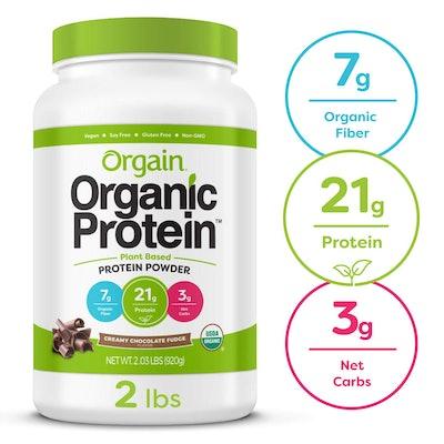 Orgain Organic Protein Powder, Creamy Chocolate Fudge (32.48 ounces)