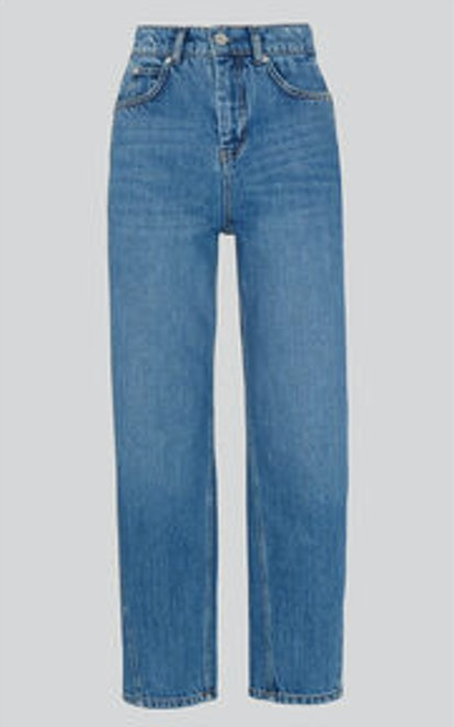 Mid Wash Denim Barrel Leg Jean