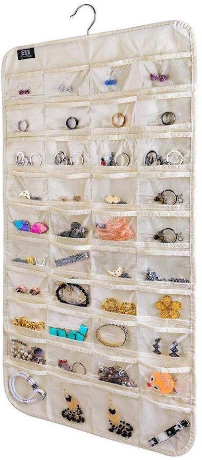 BB Brotrade 80-Pocket Hanging Jewelry Organizer