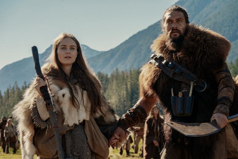 "Jason Momoa and Hera Hilmar in ""See,"" premiering November 1 on Apple TV+"