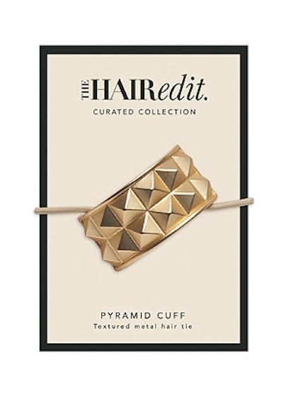 The Hair Edit  Soft Gold Pyramid Cuff