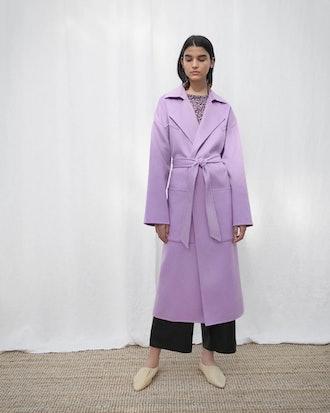 Alamo Oversized Robe Coat - Lilac