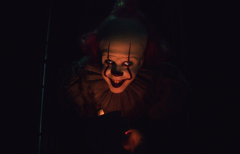 """An image of Pennywise the Clown, from the 2017 adaptation of """"IT"""" by Stephen King."""