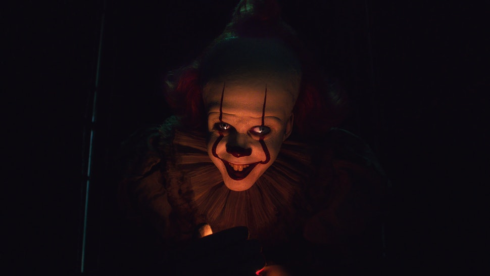 "An image of Pennywise the Clown, from the 2017 adaptation of ""IT"" by Stephen King."