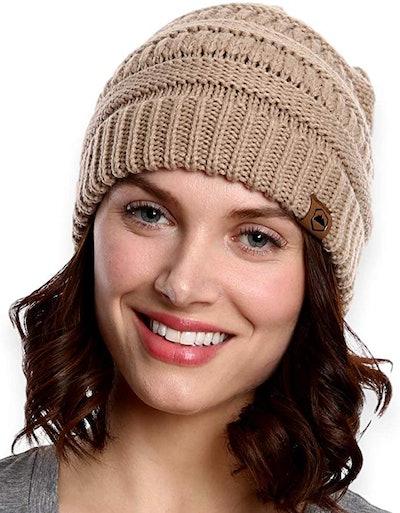 Tough Headwear Womens Cable Knit Beanie