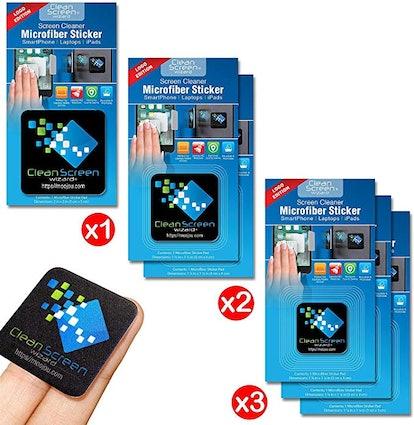 Clean Screen Wizard Microfiber Sticker