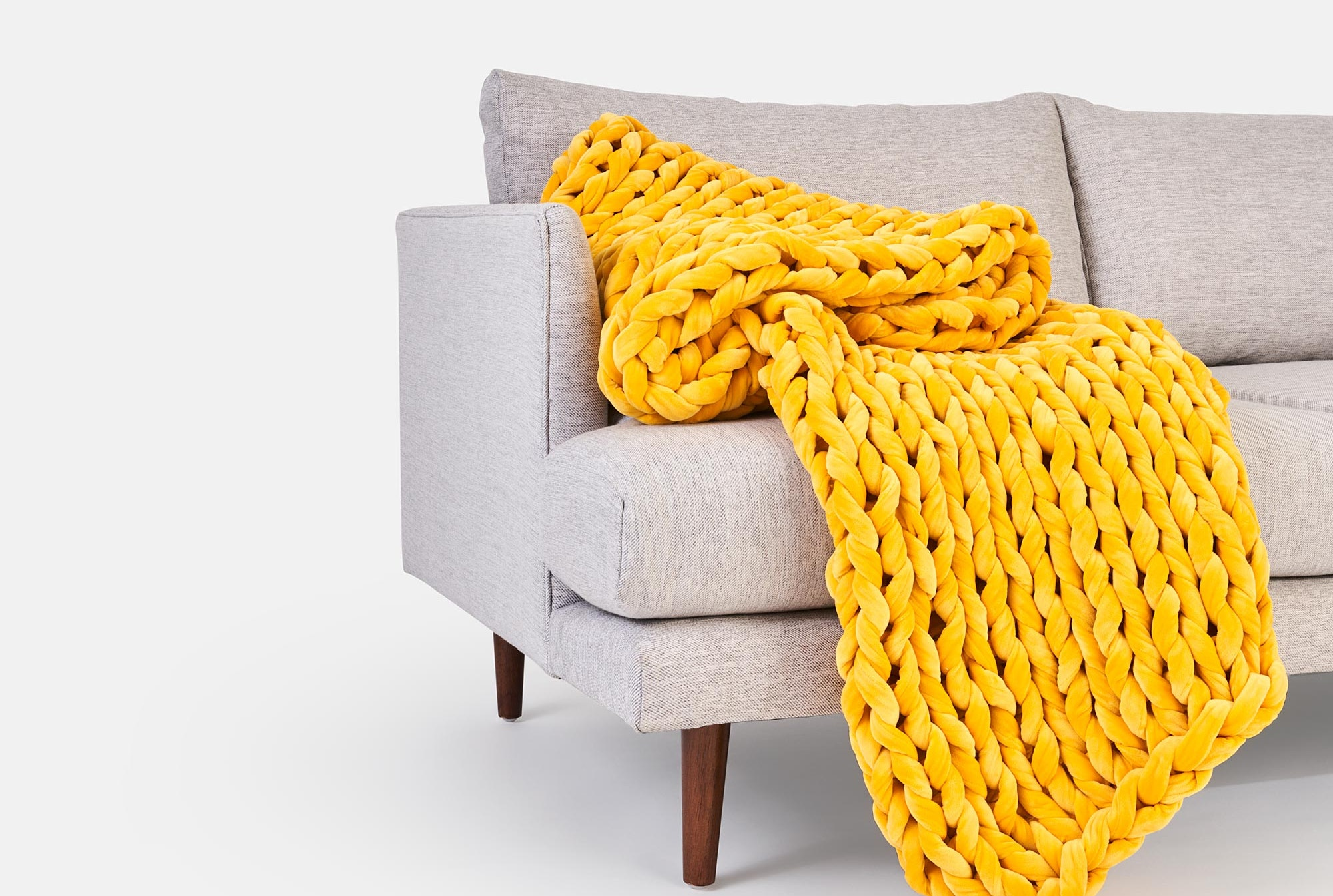The Bearaby X West Elm Collaboration Means Chic Weighted Blankets Are Coming To Your Fave Home Decor Store