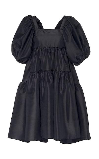 Cecilie Bahnsen Ami Bow-Embellished Taffeta Dress