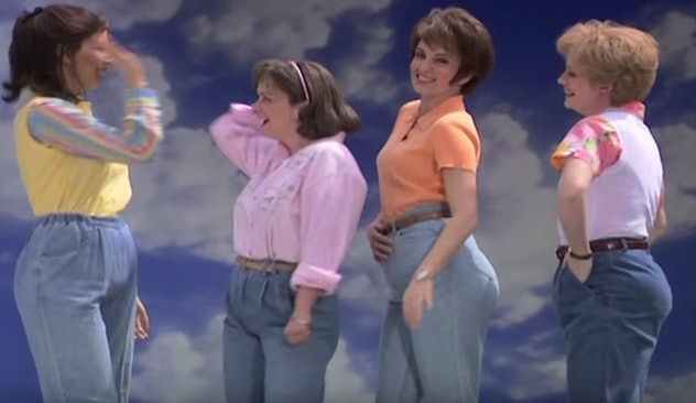 """Photo of SNL Cast during """"Mom Jeans"""" Sketch"""