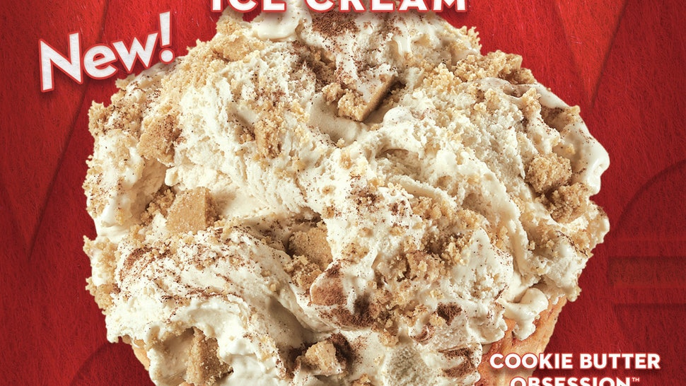 Cold Stone's newest flavor is cookie butter.