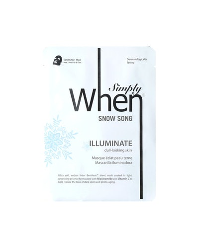 Simply When Snow Song Brighten Sheet Mask